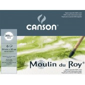 CARTA PER BELLE ARTI Moulin du Roy 300g/m² IN POCHETTE DA 6 fogli CANSON