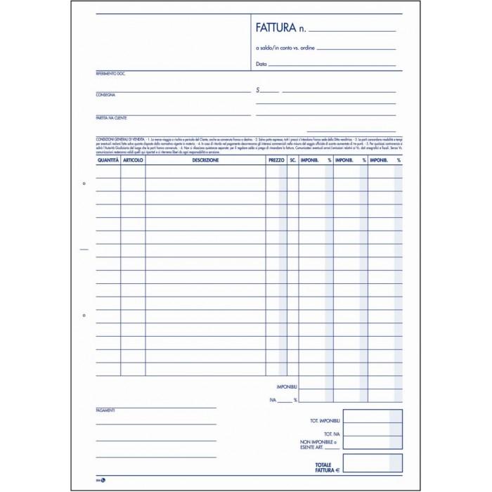 Fattura 3 aliquote libro 2 copie 22 5x29 7 bm mod 906 - Modello daffodil stampabile ...