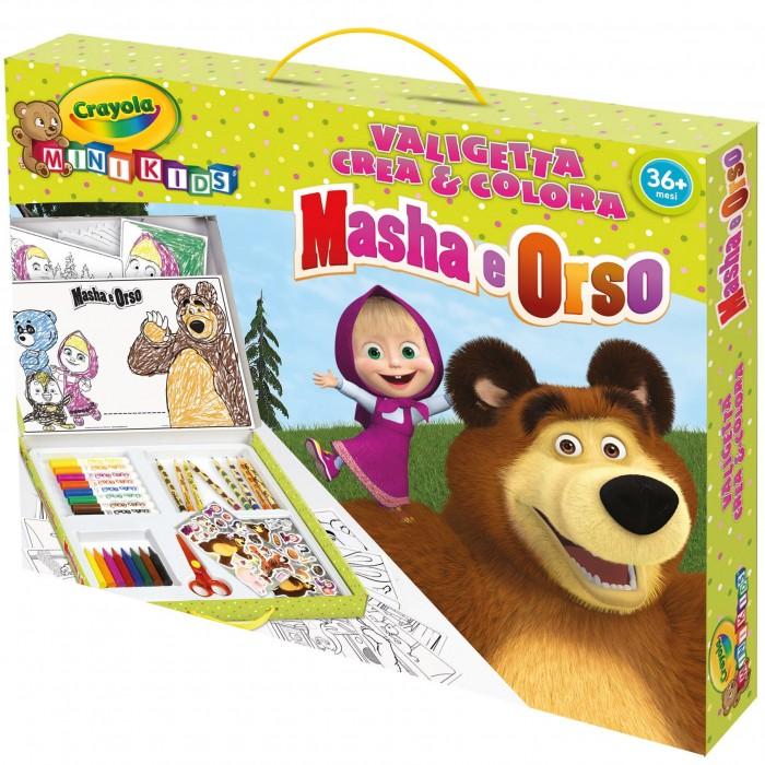Valigetta crea colora masha e l 39 orso mk crayola for Masha e orso stampa e colora