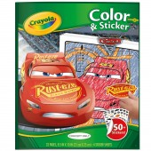 ALBUM COLOR'N STICKER DISNEY CARS 3 CRAYOLA