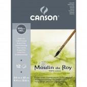 ALBUM ACQUERELLO MOULIN DU ROY 24X32 300g/m² 12 fg. GRANA FINE CANSON