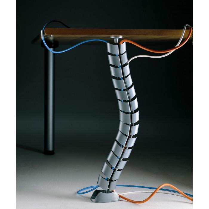 passacavi per scrivania vertebra alluminio arda