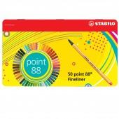 FINELINER POINT 88 SCATOLA METALLO 50 PZ. STABILO