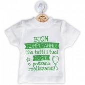 DILLO CON...MINI T-SHIRT COMPLEANNO
