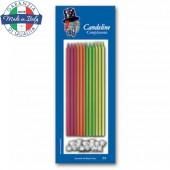 CANDELA A STELO CM.15 COLORI ASSORTITI CONF.12 PZ. MAGIC-PARTY