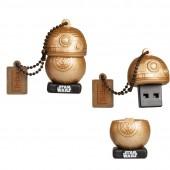CHIAVETTA USB 16 GB STAR WARS THE LAST JEDI BB-8 GOLD MAIKII