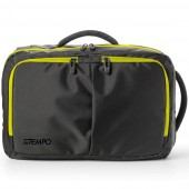 BORSA BI-BAG A DUE MANICI IN TELA CERTA BLACK-OUT TRASFORMABILE IN ZAINO BLACK-OUT 44X28X18 INTEMPO