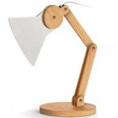 LAMPADA LED USB CON STELO IN LEGNO REGOLABILE INTEMPO