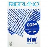 CARTA FOTOCOPIE A4 500 FF. 80 GR. HYPER WHITE FABRIANO