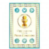 BIGLIETTO AUGURALE COMUNIONE 11,5X17 AVORIO CROMO