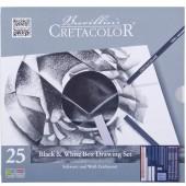 ART SET 25 PZ. BLACK & WHITE CRETACOLOR