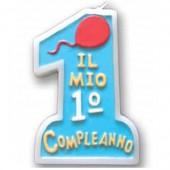 CANDELA ROSA CM.10 IL MIO 1° COMPEANNO MAGIC-PARTY