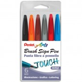 PENNARELLO PUNTA FLESSIBILE SIGN TOUCH ARTIST SET 6 PZ. PENTEL