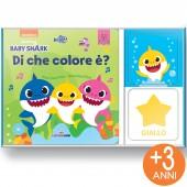 LIBRO GIOCO CARTONATO 13X13 CON GIOCO DI ASSOCIAZIONE MINILOGIC BABY SHARK DI CHE COLORE È? LISCIANI LIBRI