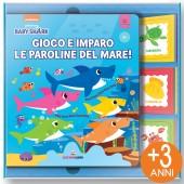 LIBRO GIOCO CARTONATO 16X19 CON GIOCO DI ASSOCIAZIONE MINILOGIC BABY SHARK GIOCO E IMPARO LE PAROLINE DEL MARE LISCIANI LIBRI