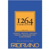BLOCCO DISEGNO 1264 SCHIZZI GRANA NATURALE A4 100 FOGLI GR. 90 FABRIANO