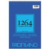 ALBUM DISEGNO SPIRALE 1264 TECNICHE MISTE RUVIDO A5 15 FOGLI GR. 300 FABRIANO