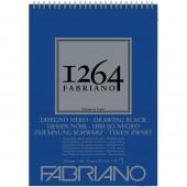 ALBUM DISEGNO SPIRALE 1264 NERO RUVIDO GR. 200 FABRIANO