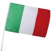 BANDIERA ITALIA CM. 60X90 ASTA CM.100