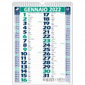 CALENDARIO OLANDESE MENSILE 28,8X39 CLASSIC VERDE/BLU 2022