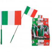 BANDIERA ITALIA CON ASTA ESTENSIBILE CM.51