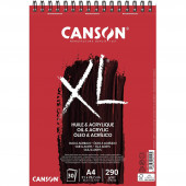 ALBUM DISEGNO SPIRALE XL-HUILE & ACRYLIQUE A4 30 FF. GR.290 CANSON