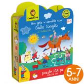 PUZZLE 108 PEZZI 35X50 WONDERFUL GIULIO CONIGLIO UNA GITA A CAVALLO LUDATTICA